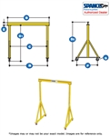 3A1012  - Spanco Steel Gantry - Adjustable Height