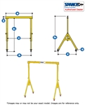 3A1515  - Spanco Steel Gantry - Adjustable Height