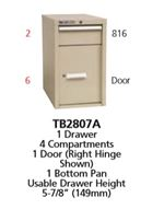 TB2807A - Vidmar Desk Height Technical Bench Cabinet